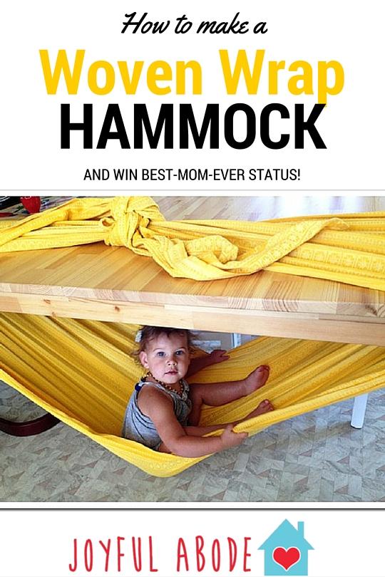 cr er un hamac pour votre b b doudou cannelle. Black Bedroom Furniture Sets. Home Design Ideas